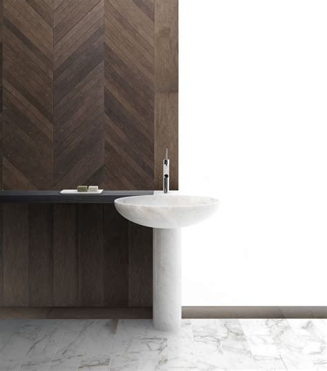 marble pedestal sink quot nabhi bowl no 12 quot marble pedestal sink by kreoo kreoo luxury bath traditional