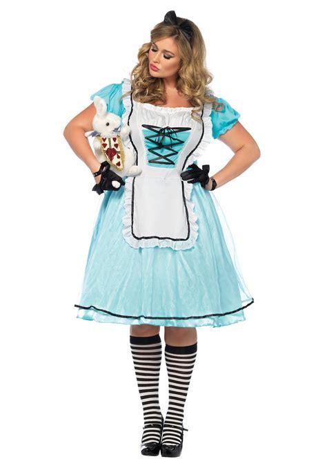 alice in wonderland halloween costume plus size and plus size tea time alice costume