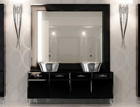 high end bathroom mirrors visionnaire marienbad high end italian vanity in lacquered