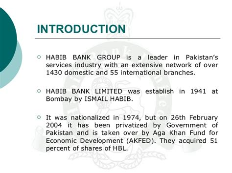 habib bank limited branches hbl study