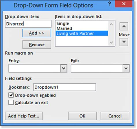 Word Vorlage Dropdown Feld Creating A Form With Legacy Form Fields Working With Fields And Forms In Word 2013 Informit