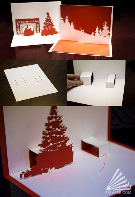 pop up card box template christmas 10 best images about pop up cards on trees paper houses and