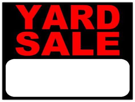 Yard Sale Sign Template garage sale 102 garage sale sign templates