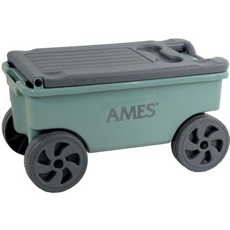 garden cart with seat home depot ames 2 cu ft poly lawn cart 1123019200 the home depot