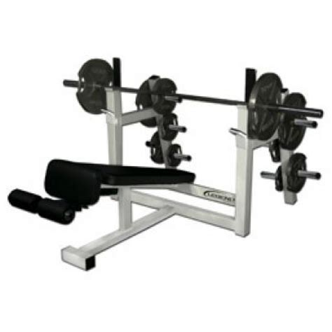 benching 4 plates legend fitness olympic decline bench w plate storage