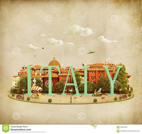 world italy word italy on the square stock illustration image 56305420