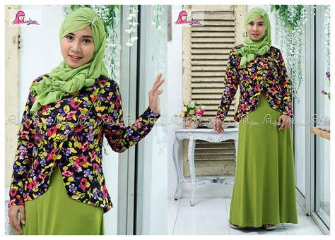 Busana Baju Dress Gamis Syari Muslim Wanita Dewasa Terbaru D38 baju muslim wanita dress miulan