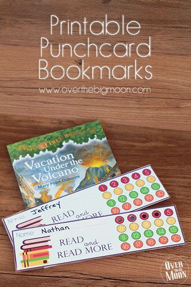 printable summer reading bookmarks printable bookmark punchcards such a great way to help