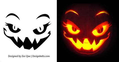 printable pumpkin patterns for carving 5 free scary halloween pumpkin carving patterns stencils