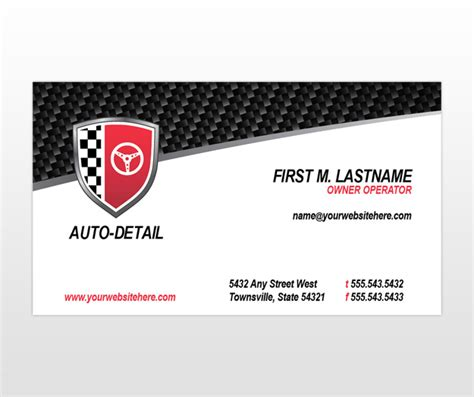 Car Card Template by Car Detailing Organizations Autos Weblog