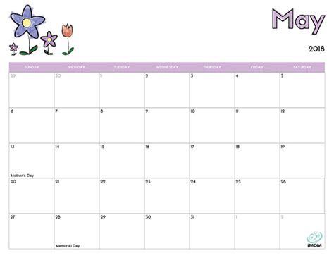 printable calendar 2018 imom 2018 free printable calendar for kids imom
