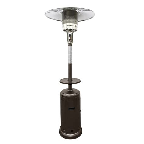 patio heaters shop az patio 41000 btu hammered bronze steel floorstanding liquid propane patio heater at lowes