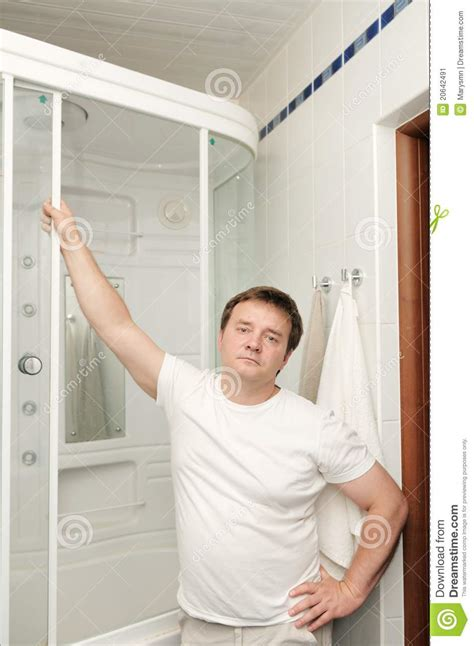 bathroom man man in his bathroom stock image image 20642491