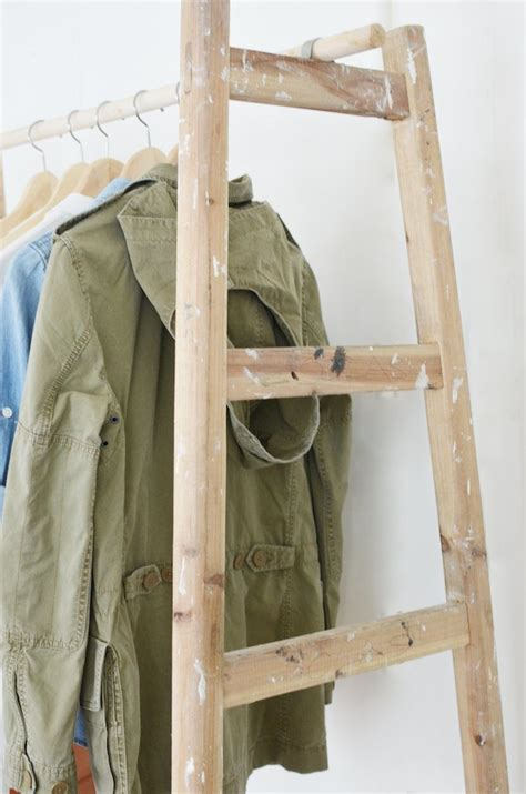 diy ladder wardrobe a pair a spare