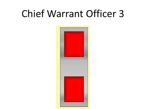 Chief Warrant Officer 3 by Rank Review In Order Ppt