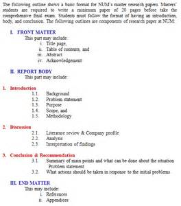 Spaced Research Paper Exle by Mba Paper Format