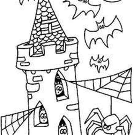 spooky castle coloring page halloween haunted house spooky activities for kids