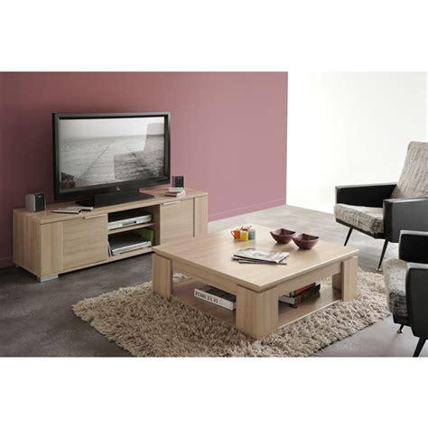 table tele en bois ensemble meuble tv et table basse chivas tous les produits mobilier salon salle 224 manger