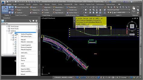 tutorial autocad civil 3d 2015 autocad civil 3d 2015 tutorial tool space prospector
