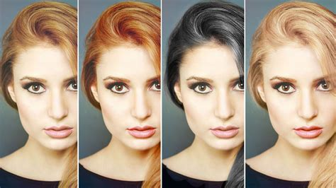 color hair changer how to change hair color in photoshop