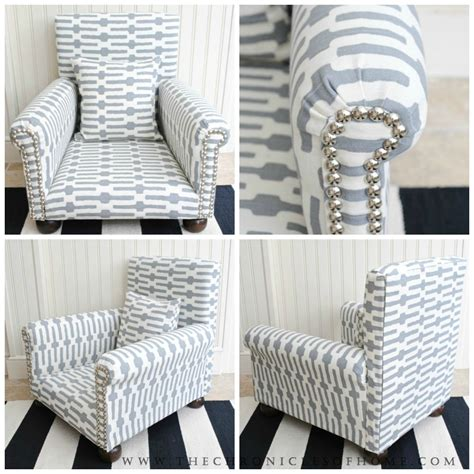 How To Upholster An Armchair by Tutorial How To Upholster A Chair The Chronicles Of Home