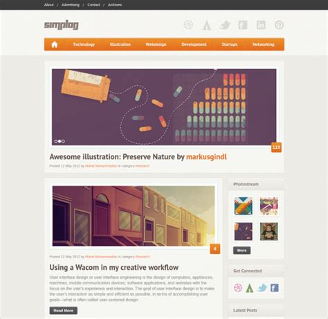 theme blog html5 html 5 blog website templates themes free premium