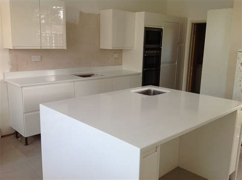 Island Bench Kitchen white quartz island wrap