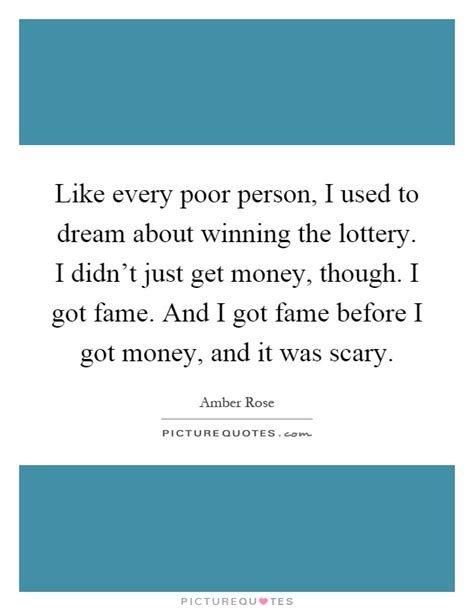 Dreams About Winning Money - like every poor person i used to dream about winning the