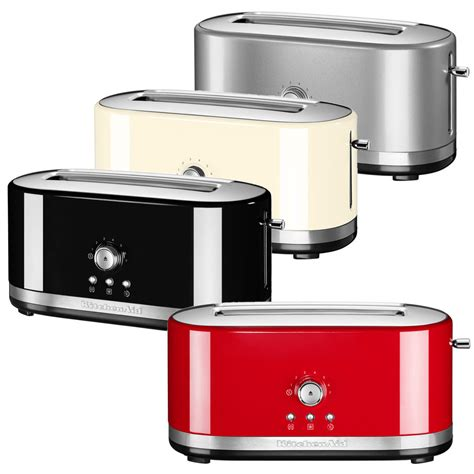 4 Slice Toaster Long Slot Kitchenaid 4 Slice Toaster With Extra Wide Slots 5kmt4116