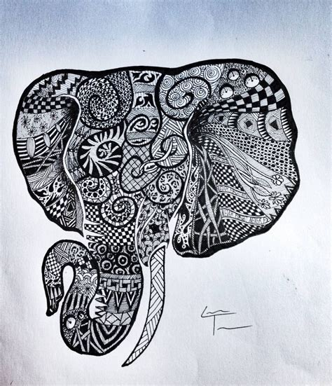 pattern elephant art my friend does these zentangle drawings i think they are
