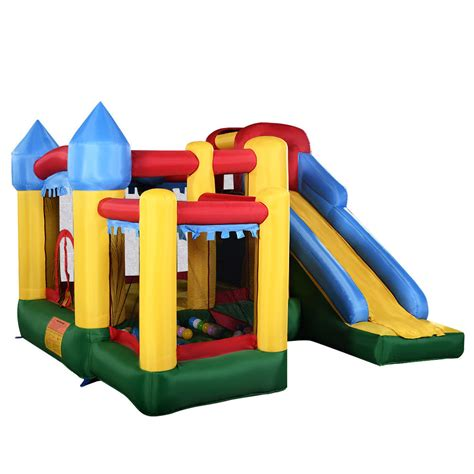 blow up bounce house new mighty inflatable bounce house castle jumper moonwalk bouncer without blower ebay