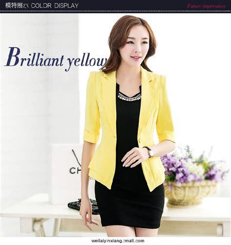 Blazer Setelan Kantor Butik blazer kantor jc670 yellow tamochi toko baju wanita murah dan grosir fashion aksesoris korea