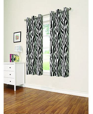 zebra print curtains walmart eclipse zebra thermaback grommet panel walmart ca