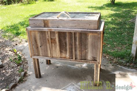 backyard chest chest turns into rustic backyard cooler