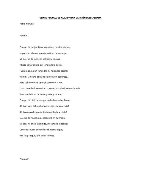 poema n 20 veinte poemas de amor y una cancin veinte poemas de amor y una canci 243 n desesperada