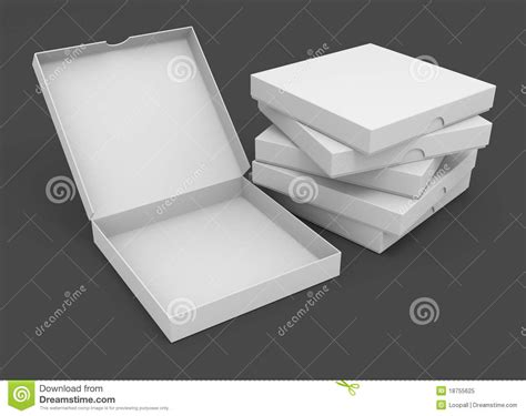 Origami Pizza Box - white pizza packaging boxes royalty free stock photo