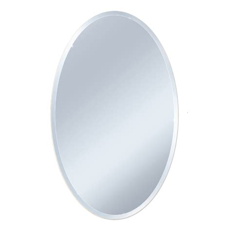 Oval Bathroom Mirrors Lowes Shop Style Selections Beveled Oval Frameless Wall Mirror