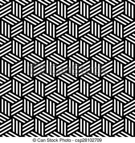 vector clipart of abstract isometric 3d cube pattern