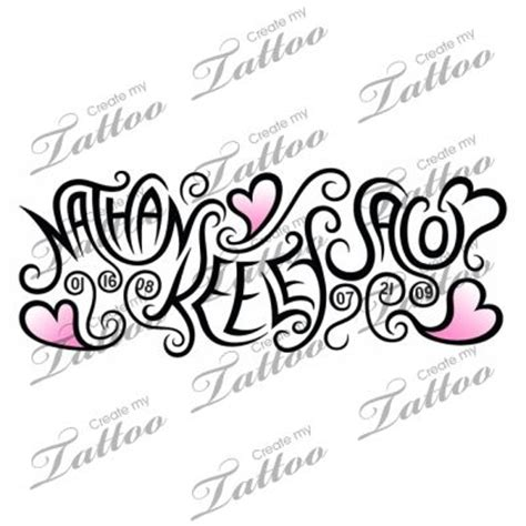 tattoo with children s names omg i love this shows kids