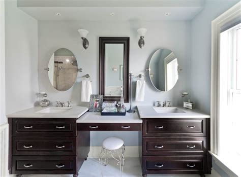 double vanity with makeup station double vanity with makeup area