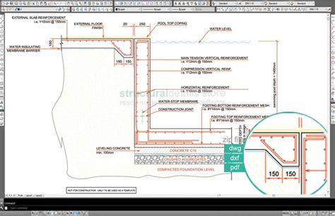 swimming pool detail section skimmer type swimming pool retaining wall detail