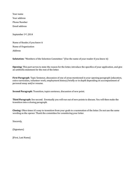 Proper Scholarship Letter Format letter of application sle letter of application in