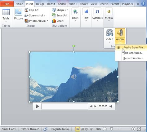 audio format in ppt how to use powerpoint to replace original sound of a video