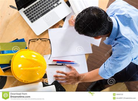 Freelance Design Working From Home Architect Working At Home Stock Photography Image 30003722