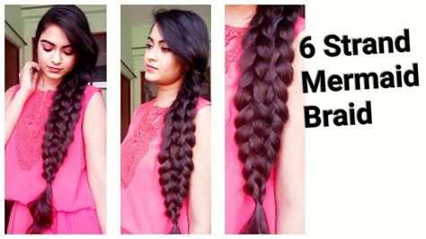 easy hairstyles for medium to long hair for college work 6 strand mermaid braid indian
