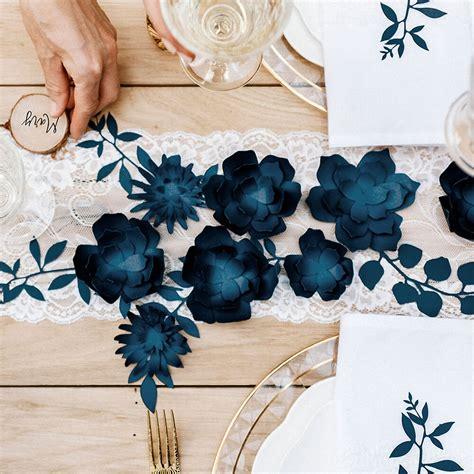 Deko Hochzeit Blau by Tischdeko Hochzeit Blumen Dunkelblau 3 St Weddix De