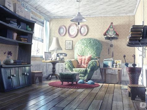 house interior cartoon old man house 180 s picture 3d cartoon light house furniture room interior art