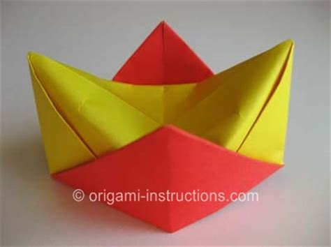 How To Fold A Paper Crown - origami crown folding how to fold an