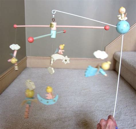 vintage mobiles for baby cribs vintage retro irmi angel wooden baby crib mobile baby