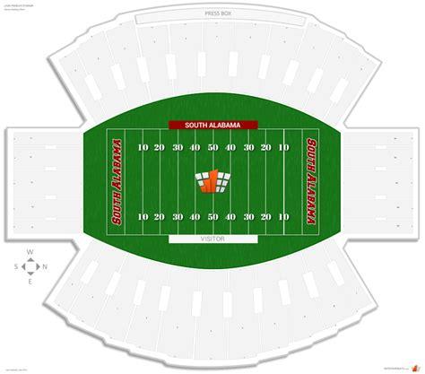 alabama football stadium seating chart ladd peebles stadium south alabama seating guide